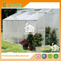 Wholesale 10'x4'x6.7'FT Silver Color Single Door Wall Lean-To Series Garden Greenhouse from china suppliers