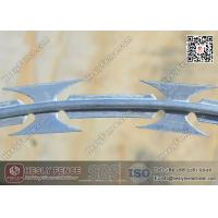 China BTO-22 O.D 500mm Galvanised Concertina Cross Razor Barbed Wire Fencing | Anping China Supplier on sale