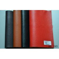 Buy cheap printed pvc synthetic leather with woven for bags from wholesalers