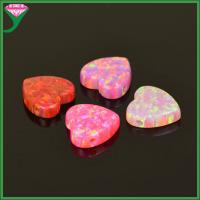 Wholesale Wholesale loose synthetic opal rough beautiful lab created heart fire opal gemstone from china suppliers