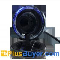 Wholesale Compact 2MP USB Webcam with Blue LED Light - Plug and Play from china suppliers