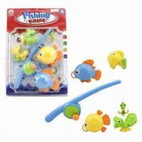 Wholesale 5-piece Indoor Fishing Game Toys with 1 Piece Fishing Rod and 4 Pieces Fishes from china suppliers