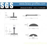 Wholesale Squared Corner Brass Decorative Profiles Solid Copper Profiles from china suppliers