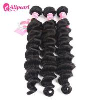 Wholesale Loose Deep Wave Real Brazilian Hair Bundles , Curly Human Hair Weave from china suppliers