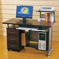 Wholesale Computer Desk with 6mm Top Toughened Glass and Paint Iron/Flakeboard from china suppliers
