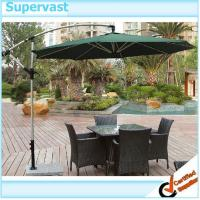 Wholesale Hand crank 9' Offset Patio Umbrella 270CM Aluminum Banana Parasol With Marble Base from china suppliers