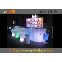 Wholesale Outdoor Table Set With RGB Lighting , Outdoor Furnitureled Bar Stool from china suppliers