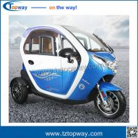 Quality 3 wheel Adult Electric tricycle with passenger seat with EEC voltage 48-60v for sale