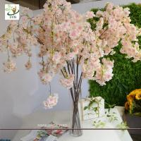 Wholesale UVG CHR129 pink fake cherry blossom tree decorative branches for wedding table decoration from china suppliers