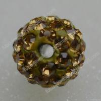 Wholesale Light Topaz Clay Shamballa Pave Beads In Size 6mm, 8mm, 10mm, 12mm from china suppliers