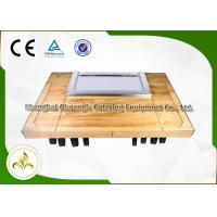 Wholesale Customized Rectangle Teppanyaki Hibachi Grill Table , Gas Grill Griddle Plate from china suppliers