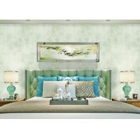 Wholesale Printing Green Solid Color Removable Wallpaper For Bedding Room Decoration from china suppliers