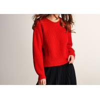 China Lady Joyous Chinese Red Crew Neck Winter Jumper for sale