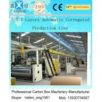 Wholesale Corrugated Cardboard Carton Making Machine With A B C D E Flute 3 5 7 Layer from china suppliers