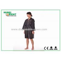 Wholesale Black Breathable Disposable Kimono Robe for Spa Center / Sauna from china suppliers