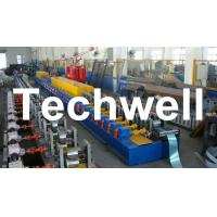 Wholesale High Quality PU Foam Rolling Door Slat Roll Forming Machine With Flying Saw Tracking Cut from china suppliers