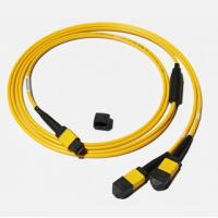 Buy cheap MPO-MPO Low insertion loss,high speed network,Yellow/Aqua color  fiber optic patch cord from wholesalers