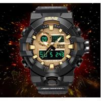 Wholesale SBAO New Wholesale Dual Time Shock Resist Chronograph Alarm TPU Band 3ATM Outdoor Sport Watches  S-8018 from china suppliers