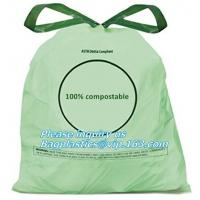 Wholesale drawstring 100% eco friendly direct manufacturing factory compostable garbage bags on roll, Sealing & Handle and Customi from china suppliers
