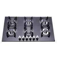Wholesale Residential Tempered Glass Top 6 Burner Gas Hob , Six Burner Gas Cooker from china suppliers