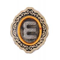 Wholesale E Alphabet Embroidered Iron On Patches Oval Embroidered School Badges from china suppliers