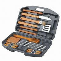 Wholesale 18-piece BBQ Set in Blow Molded Case, Nonstick Heads from china suppliers