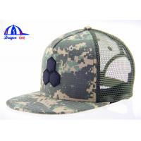 Wholesale OEM 55% Cotton Camo 45% Polyester Mesh Trucker Hats ,  Fashion Baseball Cap from china suppliers