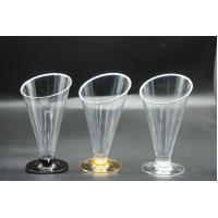 Wholesale Plastic Goblet Ice Cream Juice Oblique Cone Cup 160ml Plastic Dessert Containers from china suppliers