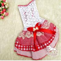 Quality Red dog skirt, hollow out skirt like cake shape for sale