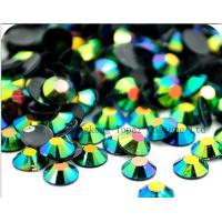 Wholesale hot fix epoxy resin rhinestone,neon rhinestone studs for apparel from china suppliers