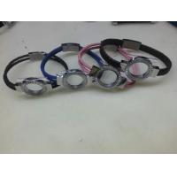Wholesale Tagor Jewelry New Style Leather Cord Stainless Steel Glass Lockets Bracelets,Multi Colors from china suppliers