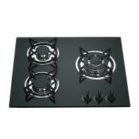 Wholesale Tempered Galss Top 3 Ring Gas Hob , Safety Kitchen Three Burner Gas Cooktop from china suppliers