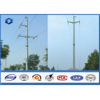 Quality Overhead Transmission Line Electric Power Pole with Material Steel Q345 Q456 , Gr50 Gr65 for sale