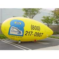 Wholesale Customised PVC Inflatable Advertising Balloons Yellow Helium Zeppelin Balloon from china suppliers