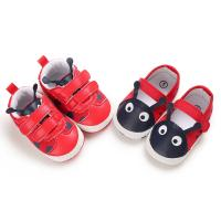 Buy cheap popular pu&cotton Red shoes lovely worm toddler boy girl cute babe shoes from wholesalers