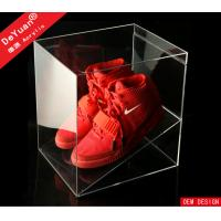 Wholesale PMMA Display Stroage Transparent Shoe Boxes Red 26 x 26 x 26cm from china suppliers