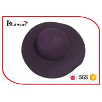 Wholesale Dark Purple Crushable Felt Travel Hat Leather Wide Brim Felt Cowgirl Hat from china suppliers