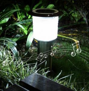 Quality Solar Garden Light bluetooth speaker outdoor LED light wireless solar speaker LED for sale