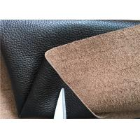 Quality Brown Leather Car Upholstery Fabric With 15% Cotton And 15% Polyester for sale