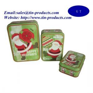 Wholesale Christmas Rectangle Tin Box Set, Tin Box Set, Metal Box Set for Christmas from china suppliers