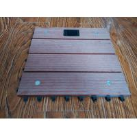 Wholesale WPC Outdoor Solar Composite Interlocking Deck Tiles For Boardwalk , Playground from china suppliers