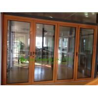 Wholesale Aluminum Folding glass Door For Balcony,durable aluminum bi-folding door with wood color from china suppliers