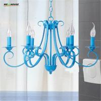 Wholesale Modern Iron Art Chandeliers Metal Painting White/Black/Blue Lamp Body Optional Lustres Home Decoration Chandeliers Free from china suppliers