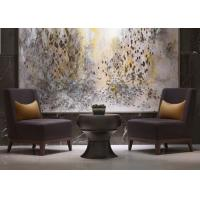 Wholesale Leisure Purple Fabric Modern Lobby Furniture , Lobby Wooden Easy Chair from china suppliers