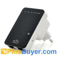 Wholesale Mini Portable Wireless-N Router (2 LAN Ports, 2.4GHz, Wall Powered) from china suppliers