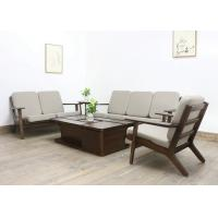 Wholesale European Luxury Living Room Furniture Fabric Solid  Wood Sofa Set with Soft Cushion from china suppliers