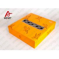 Wholesale Yellow Fabric Personalised Gift Wrap Box , Special Printing Window Paper Box from china suppliers