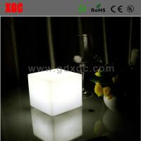 Wholesale Plastic Made Cube Shape Glowing Living Room Bed Side Table from china suppliers