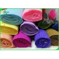 Wholesale Double Sided Wrapping Crepe Paper Rolls DIY Multi Color Flower Paper from china suppliers