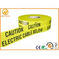 Wholesale Yellow and Black Warning Stripesfor Safety Warning Caution Electric Cable Below from china suppliers